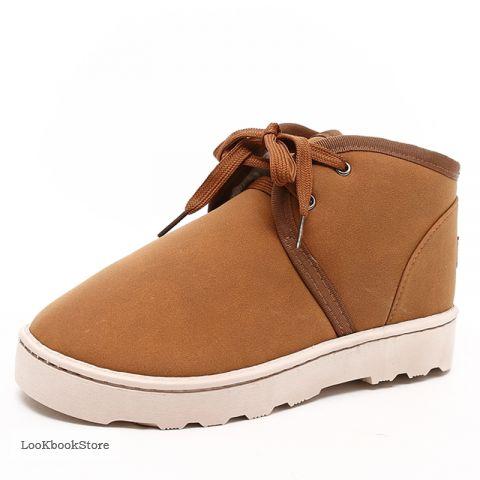 Зимние бежевые ботинки