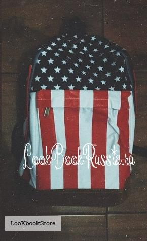 Рюкзак с принтом американского/великобританского флага