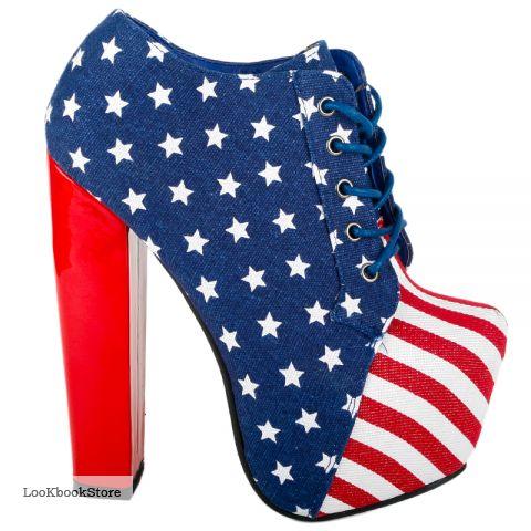 Ботильены с принтом американский флаг